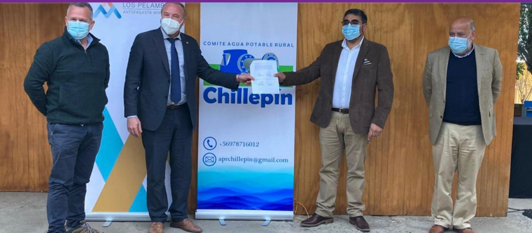Ampliación del Sistema de Agua Potable Rural de Chillepín avanza a paso firme